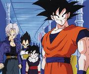 Gohan,Goku,FutureTrunksAndVegeta