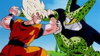 GokuFullPowerSuperSaiyanVsCellK