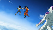 Goku vs Vegeta et Freezer