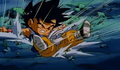 Kid goku kncoked out by mouma