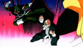 Kishime tries to kick Roshi