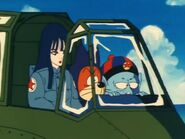 Pilaf shu and mai in Pilafs plane at kame house