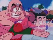 Ten Shin Han vs Goku