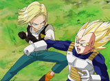Vegeta Supersaiyano vs. Androide Número 18