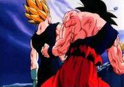 Vegeta davanti a Goku