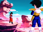 Goku vs vegeta first fight ever