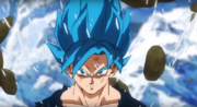 Son Goku trasformato in Super Saiyan Blue - DBSB