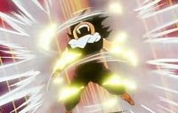 Gohan powers up to fight Garlic Jr. Saga