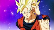 Goku-sa en su fase Super Saiyan