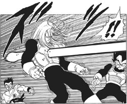 Morte trunks del futuro manga