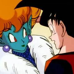 Goku e la Principessa parlano.