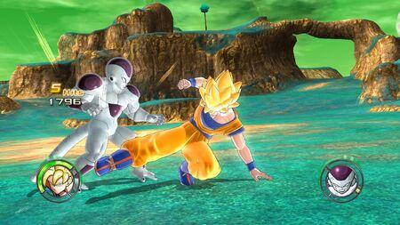 SS Goku VS Frieza Namek 14