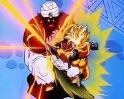 Goten ataca a Mr. Popo