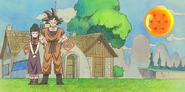 Chi-Chi y Goku padres