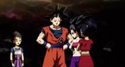 Cabba Goku Caulifla Kale al torneo del potere