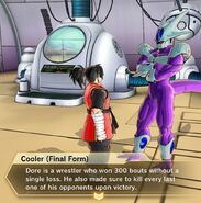 Xenoverse 2 - Cooler describes Dore's wrestling past