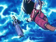 Goku ataca Tao enrabiat