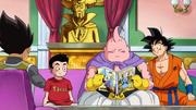 Goku e Vegeta provano a convincere Majin Bu