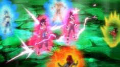 Goku Xeno y Vegeta Xeno alcanzando el CFPS4GT