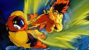 Goku colpisce Slug