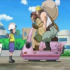 L'airbike dei rapinatori in Dragon Ball Super.