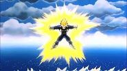 Super Vegeta cargando el resplandor final