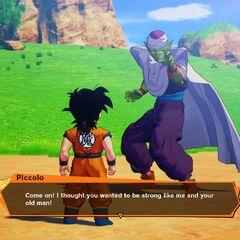 Gohan si allena con Piccolo.