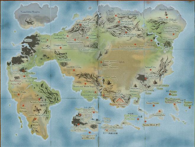 Dragonball world map by 0some weirdguy0-d4qonuq