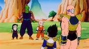 Nappa e Vegeta contro Piccolo, Crilin e Gohan