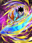 Dokkan Battle Birth of a Hero Gohan (Teen) card (Apprentice Supreme Kai Adolescent Gohan with Z Sword UR)