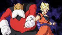 Toppo afferra Goku