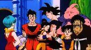 Chi-Chi abraza a Goku