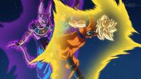 Goku pelea como Super Saiyan contra Bills