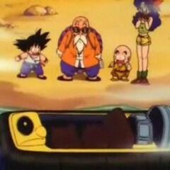 L'hovercraft di Muten per raggiungere Training Island.