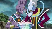 Whis e Beerus mangiano il gelato