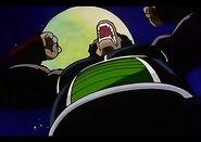 Bardock Ōzaru atacando el Planeta Kanassa