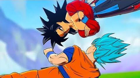 SSJ4 Xeno Goku Vs SSB Goku Cinematic Trailer - SUPER DRAGON BALL Heroes Universe Mission