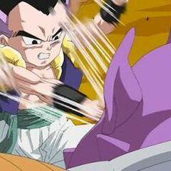 Il Rogafufuken usato da Gotenks contro Aka in Ossu! Kaette Kita Son Goku to nakama-tachi!!.