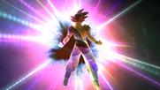 Goku transformandose SSG(ZBR)