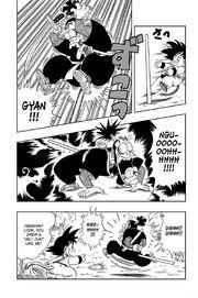 Ninja Murasaki lands on the Power Pole painfully