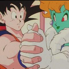La Principessa balla un Tango con Goku.