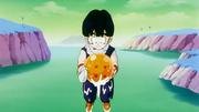 Son Gohan trova la sfera nascosta da Vegeta
