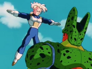 Trunks cerca di fermare Cell
