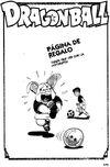 Página de regalo - Oolong y Yamcha practicando football