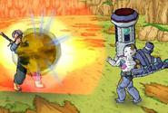 Cyborg Frieza grenade explosion