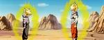 Trunks y Goku