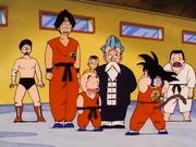 Yamcha, Crilin, Jackie Chun e Son Goku alle eliminatorie del Torneo Tenkaichi