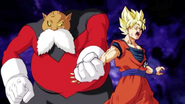 !Toppo hace sufrir a Goku!