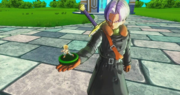 DBXV2 Hero Coloseum Saga - Say Hello to the Hero Colosseum! Xeno Trunks showing off his figure (Cutscene)