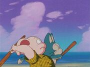 Puar and Oolong in Garlic jr. saga